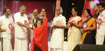 Surabhi receives Kerala State Film Award