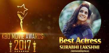 Surabhi receives the Kerala box office awards for the year 2017